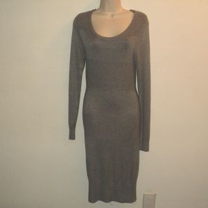 Torrid 0 S/M Gray Knit Sweater Dress Long Sleeves